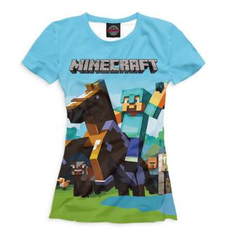 Футболка для девочек Minecraft