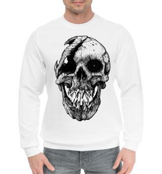 Женский хлопковый свитшот Cool skull