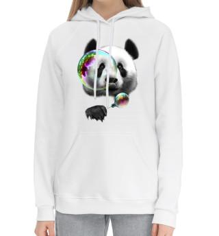 Женский хлопковый худи Панда