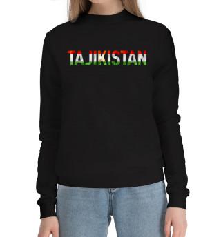 Женский хлопковый свитшот Tajikistan