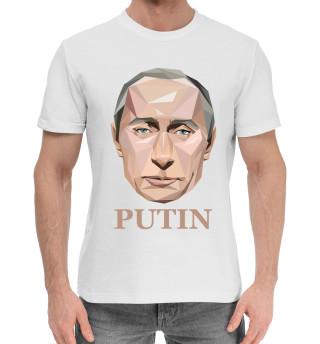 Мужская хлопковая футболка Путин Мозаика