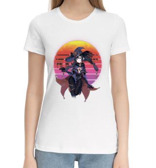 Женская хлопковая футболка Mona Retrowave