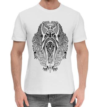 Мужская хлопковая футболка Воин Медведь