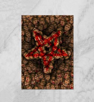 Doom. Пентаграмма (pixel-art)