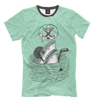 Мужская футболка Акула хоккеист