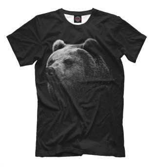 Мужская футболка медведь