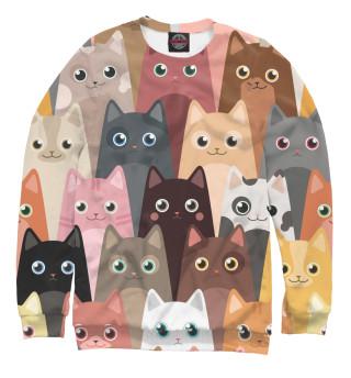 Женский свитшот Мультяшные кошки