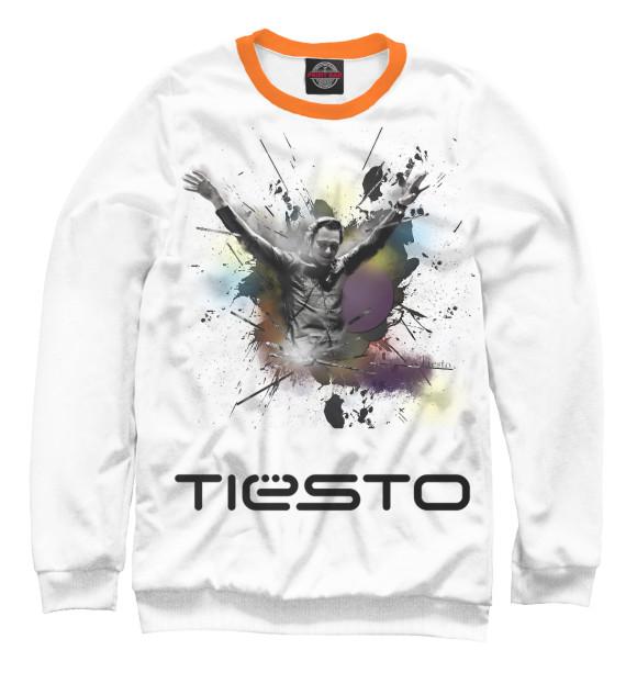 Мужской свитшот с изображением Tiesto цвета Белый