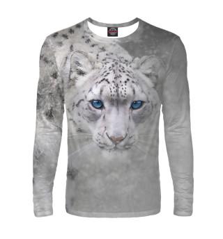 Леопард в снегу