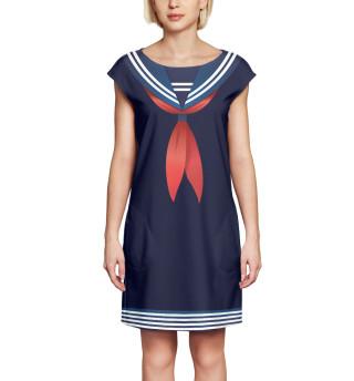 Платье без рукавов Матроска