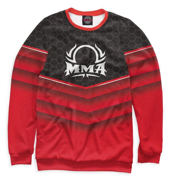 Мужской свитшот с изображением MMA цвета Белый