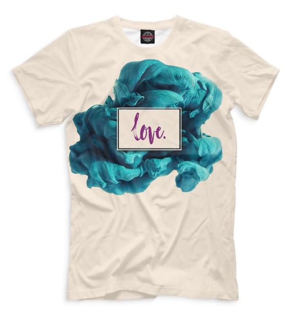 Женская футболка с изображением Love. цвета Светло-розовый