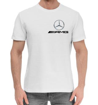 Мужская хлопковая футболка Mercedes AMG