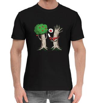 Мужская хлопковая футболка Случай в лесу