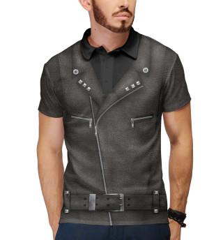 Мужское поло Байкерская куртка