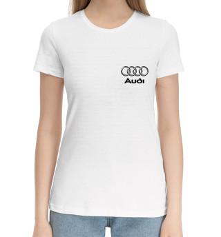Женская хлопковая футболка Audi