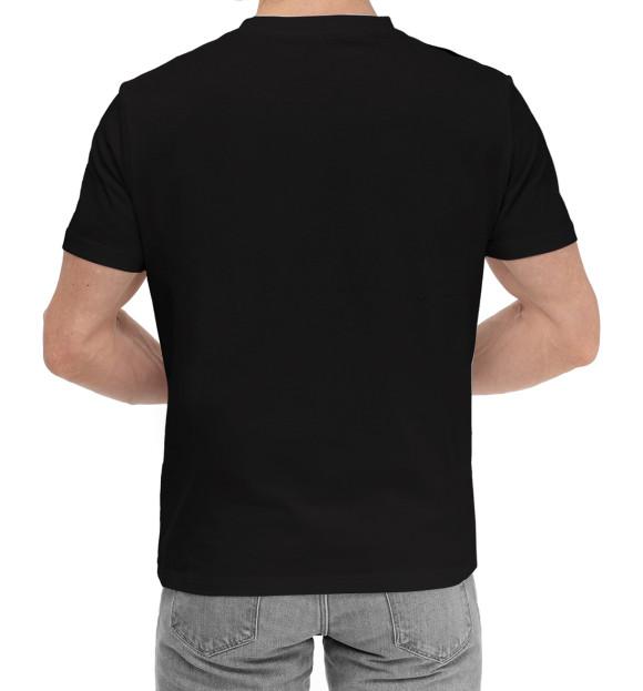Мужская хлопковая футболка с изображением Кот Саймона хочет кушать цвета Черный
