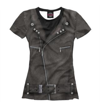 Женская футболка Байкерская куртка