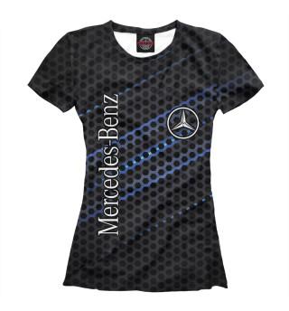 Женская футболка Mercedes logo neon