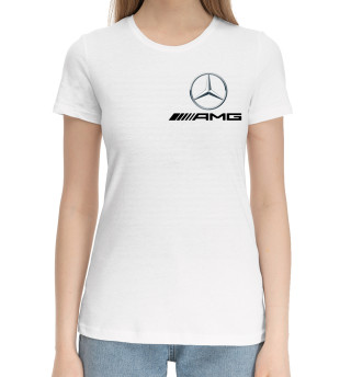 Женская хлопковая футболка Mercedes AMG
