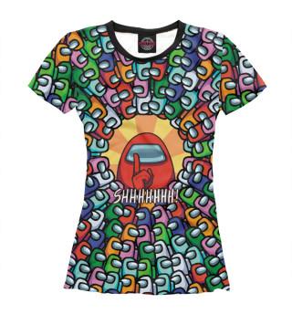 Женская футболка Among Us SHHHHHHH!