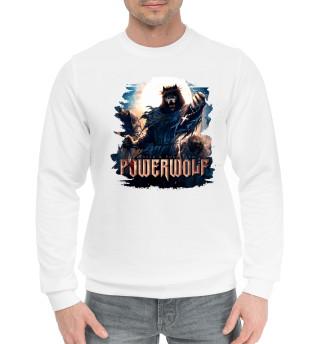 Мужской хлопковый свитшот Powerwolf