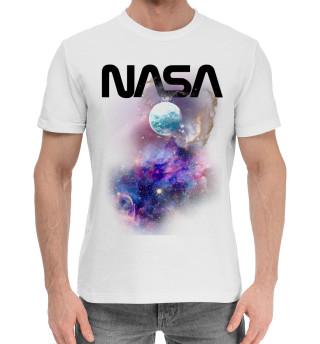 Мужская хлопковая футболка NASA