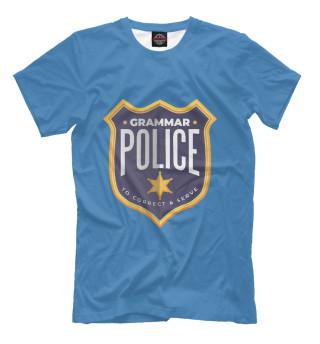 Женская футболка Grammar police