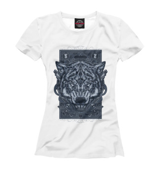 Женская футболка Vintage Wolf