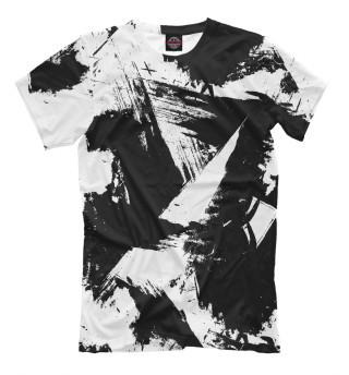 Мужская футболка Чёрно-белый камуфляж