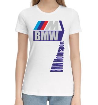 Женская хлопковая футболка BMW