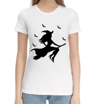 Женская хлопковая футболка Witch