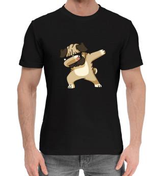Мужская хлопковая футболка pug dab