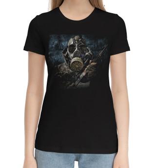 Женская хлопковая футболка Сталкер в припяти
