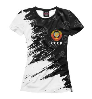 Женская футболка СССР / USSR