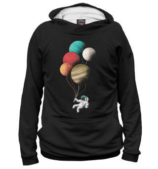 Мужское худи Астронавт с шариками