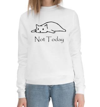 Женский хлопковый свитшот Not Today