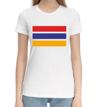 Женская хлопковая футболка Армения