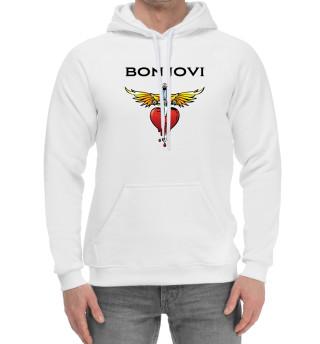 Мужской хлопковый худи Bon Jovi
