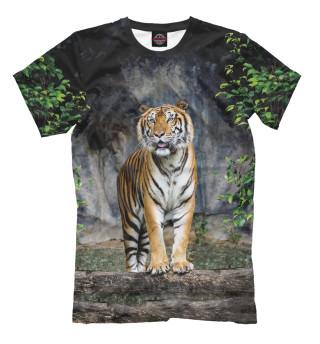 Мужская футболка Тигр в Лесу