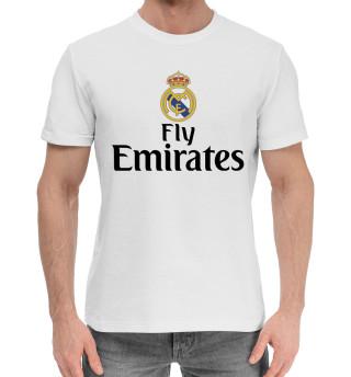 Мужская хлопковая футболка Форма Реал Мадрид