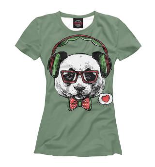 Женская футболка Панда Хипстер