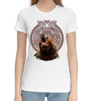 Женская хлопковая футболка Славянские обереги