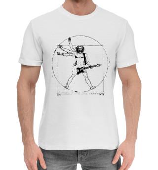 Мужская хлопковая футболка Гитарист