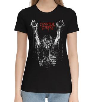 Женская хлопковая футболка Cannibal Corpse