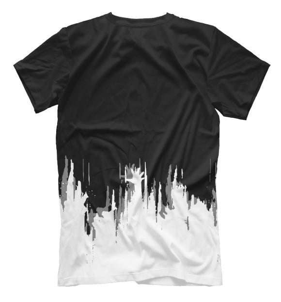 Мужская футболка с изображением Разное цвета Белый