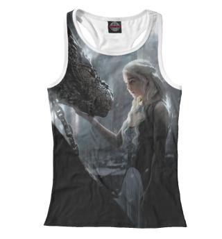 Женская майка-борцовка Мать драконов