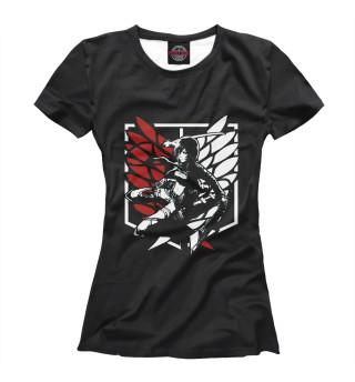 Женская футболка Attack on Titan