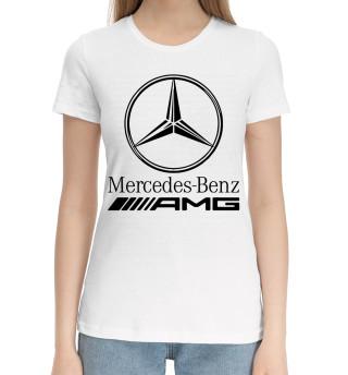Женская хлопковая футболка Mersedes-Benz AMG