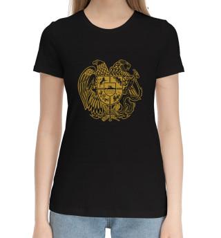Женская хлопковая футболка Герб Армении